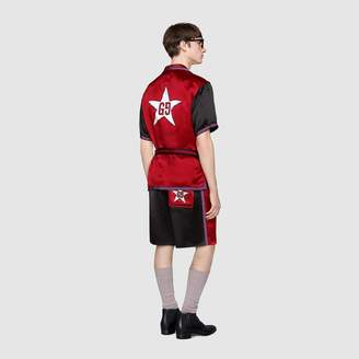 Gucci Acetate bowling shirt with GG star