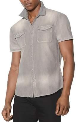John Varvatos Faded Short-Sleeve Button-Down Shirt