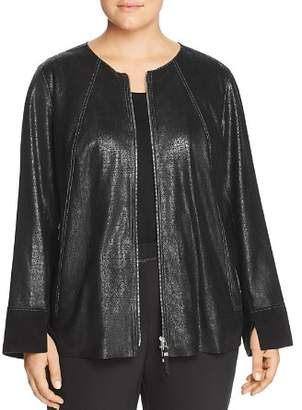 Lafayette 148 New York Plus Anasophia Metallic Suede Jacket