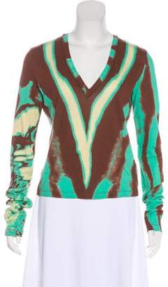 Just Cavalli V-Neck Long Sleeve Top