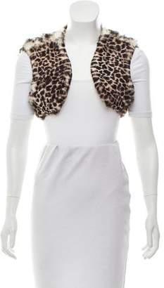 Reich Furs Cropped Fur Vest