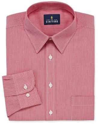 STAFFORD Stafford Travel Stretch Performance Super Shirt Long Sleeve Broadcloth Stripe Dress Shirt