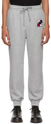 Burberry Grey Chequer EKD Munley Track Pants