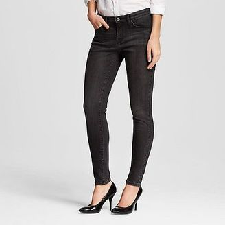 Women's Mid-rise Skinny Jeans Black Rinse - Mossimo $27.99 thestylecure.com