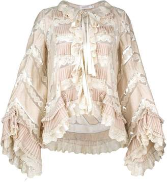 Zimmermann pleated lace blouse