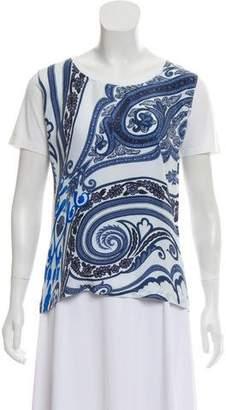 Etro Paisley Print Scoop Neck T-Shirt