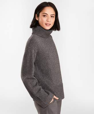 Brooks Brothers Merino Wool-Alpaca Turtleneck Sweater