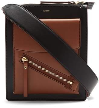 Joseph Mortimer Leather Shoulder Bag - Womens - Black Tan