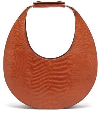 STAUD Moon Lizard Effect Leather Shoulder Bag - Womens - Tan