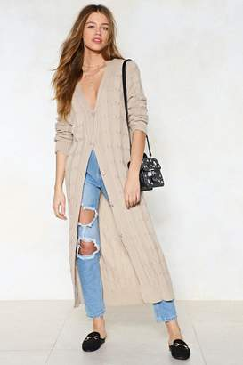 Nasty Gal Get Your Knits on This Longline Cardigan