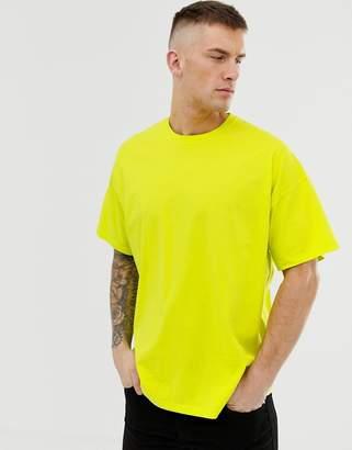 Asos Design DESIGN oversized t-shirt with crew neck in neon green