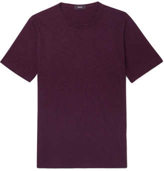 Theory Cosmos Slub Cotton-Jersey T-Shirt