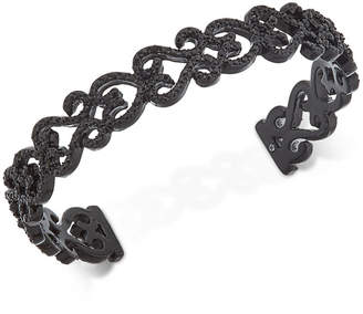INC International Concepts I.N.C. Black-Tone Jet Pavé Cuff Bracelet, Created for Macy's