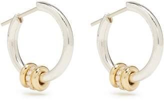 ara SPINELLI KILCOLLIN diamond, silver & yellow-gold earrings