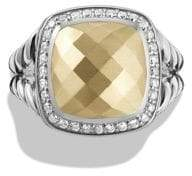 David Yurman Albion Ring with Diamonds and 18K Gold
