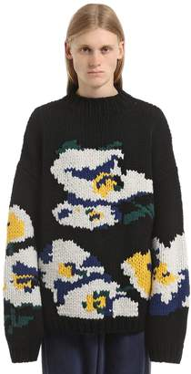Floral Chambers Jacquard Knit Sweater
