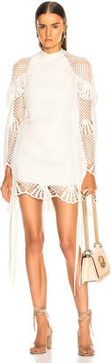 Self-Portrait Self Portrait Crochet Mini Dress