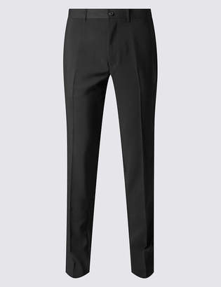 33dbf32d Marks and Spencer Big & Tall Slim Fit Flat Front Trousers