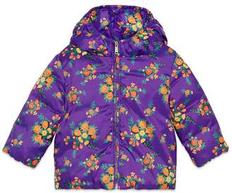 Gucci Baby floral bouquets nylon jacket