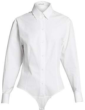 Alaà ̄a Women's Cotton Poplin Blouse Bodysuit
