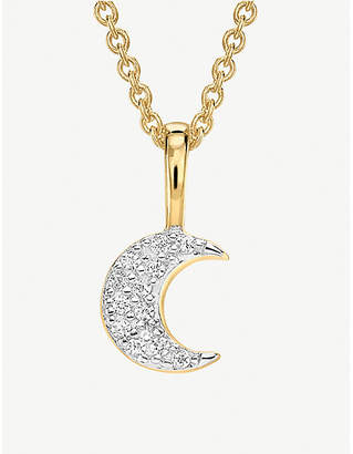 Missoma Ltd Moon 18ct gold vermeil and pave necklace