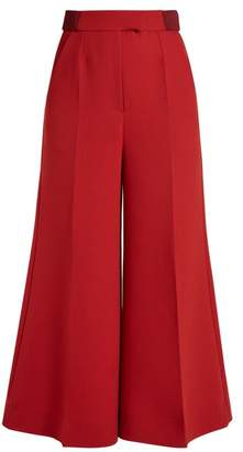 Roksanda Tamako Wide Leg Cropped Trousers - Womens - Red