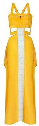 Aya Silk Citrine Maxi Dress