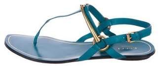 Gucci Leather Horsebit Sandals
