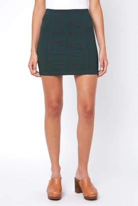Free People Modern Femme Tartan Plaid Mini Skirt
