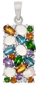 QVC Colorful Mixed Gemstone Statement Pendant,Sterling Silver
