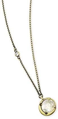 Kendra Scott Quinn Versatile Necklace in Antique Brass Iridescent Glass and Cubic Zirconia