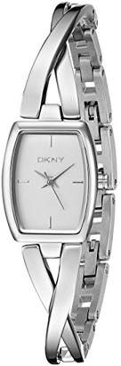 DKNY DNKY5) Women's Quartz Watch with Silver Dial Analogue Display and Silver Stainless Steel Bracelet NY2234