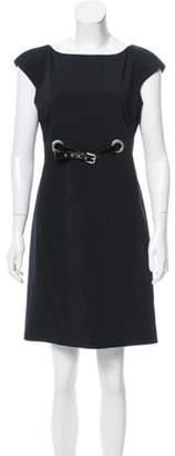 Dolce & Gabbana Belted Shift Dress Black Belted Shift Dress