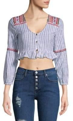 Raga Sailor Cotton Cropped Top