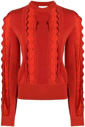 Chloé lace panel sweater