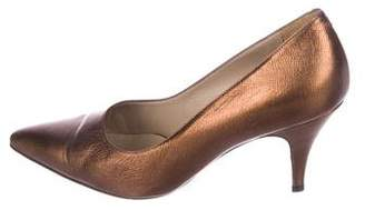 Marni Metallic Pointed-Toe Pumps