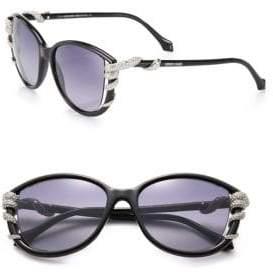Roberto Cavalli 53MM Swarovski Crystal Snake Injected Cat Eye Sunglasses