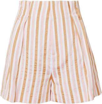 Frame Pink Striped Shorts