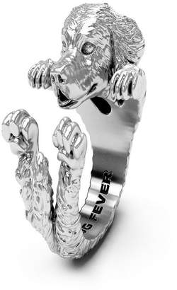 Golden Retriever Hug Ring in Sterling Silver