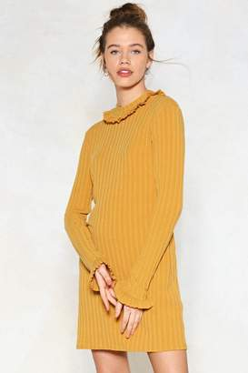 Nasty Gal Pull Knit Off Sweater Dress
