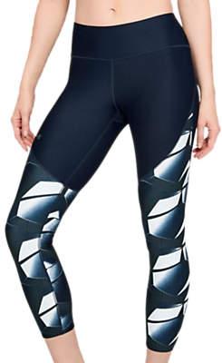 Under Armour Vanish Printed Training Leggings, Academy Blue/Metallic Silver