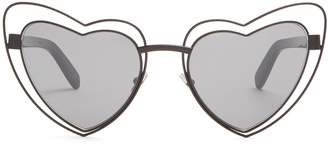 Loulou heart-shaped metal sunglasses