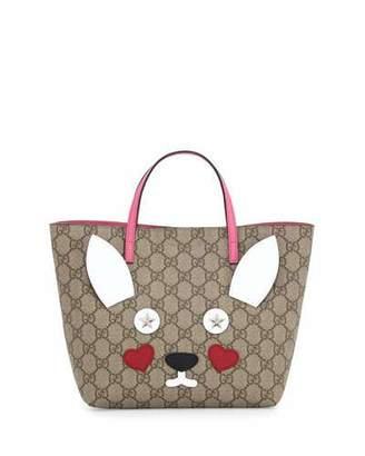 Gucci Girls' GG Supreme Rabbit Tote Bag, Multicolor $650 thestylecure.com