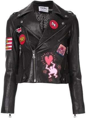 Alice + Olivia Alice+Olivia muti-patches biker jacket