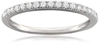 Micropave 14k Gold Round Diamond Micro-Pave Wedding Band (1/4cttw
