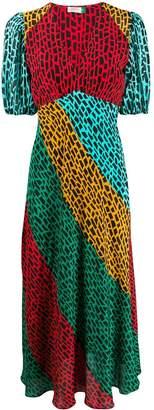 Rixo colour block day dress