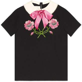 Gucci Embroidered cotton T-shirt