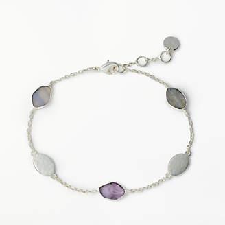 John Lewis & Partners Semi-Precious Stone Chain Bracelet, Silver