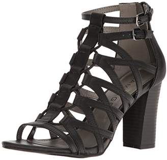 Rampage Women's Elsies Dress Chunky Heel Open Toe Bungee Sandal