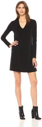 Kenneth Cole New York Kenneth Cole Women's Long Sleeve V-neck Dress